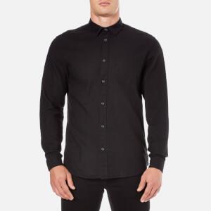 Selected Homme Men's Woken Long Sleeve Shirt - Black