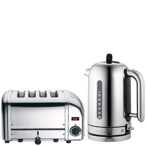 Dualit Classic Vario 4 Slot Toaster & Kettle Bundle - Polished Stainless Steel