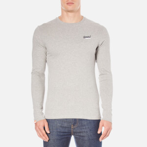 Superdry Men's Orange Label Long Sleeve Top - Grey Marl
