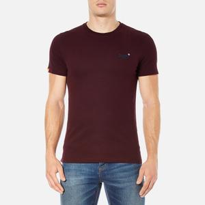 Superdry Men's Orange Label Vintage Embroidered T-Shirt - Rich Burdundy