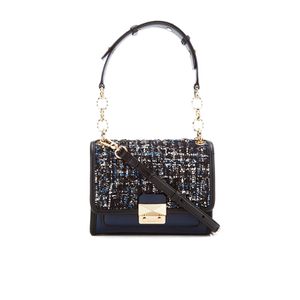 Karl Lagerfeld Women's K/Kuilted Tweed Mini Handbag - Midnight Blue