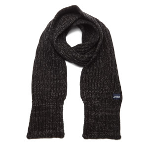 Superdry Men's Super Cable Scarf - Charcoal Twist