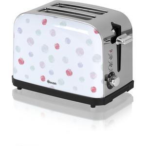 Swan ST15020POLN Polka Dot 2 Slice Toaster - White