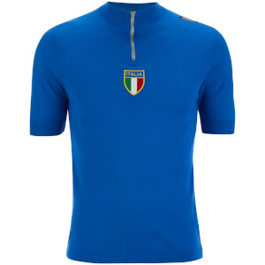 Santini Azurri Heritage Series Short Sleeve Jersey - Blue