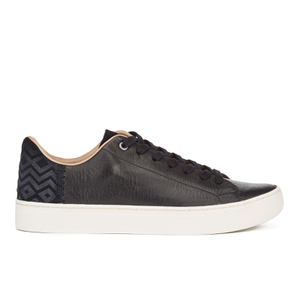 TOMS Men's Lenox Leather Cupsole Trainers - Black