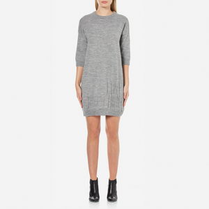 Love Moschino Women's Logo Imprint Jumper Dress - Medium Grey