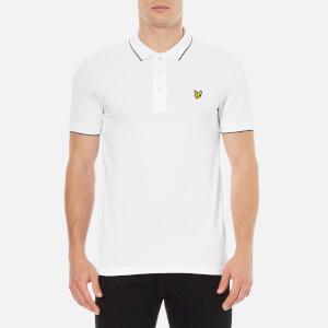 Lyle & Scott Men's Short Sleeve Jacquard Collar Polo Shirt - White
