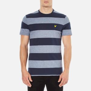 Lyle & Scott Men's Crew Neck Wide Stripe T-Shirt - Navy