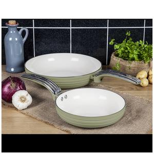 Swan Retro Frying Pans - Green (20cm/28cm)