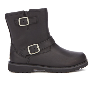 UGG Kids' Harwell Leather Biker Boots - Black