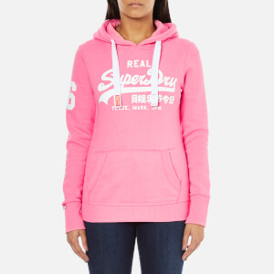 Superdry Women's Vintage Logo Duo Entry Hoody - Snowy Ultra Pink
