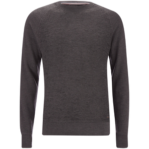 Produkt Men's Knit Raglan Crew Neck Sweatshirt - Dark Grey Melange
