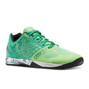Reebok Men's Crossfit Nano 5.0 Trainers – Green/Steel Grey