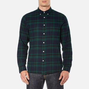 Edwin Men's Standard Shirt - Black Watch Tartan