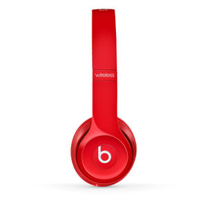 Beats by Dr. Dre: Solo2 Wireless On-Ear Headphones - Red (Manufacturer Refurbished)