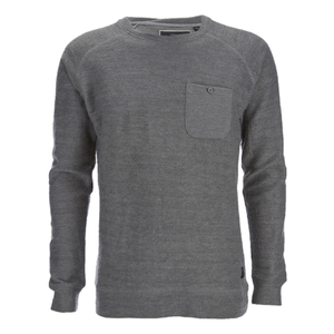 Brave Soul Men's Adler Textured Pocket Jumper - Mid Grey