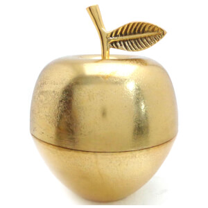 Apple Trinket Pot - Shiny Brass