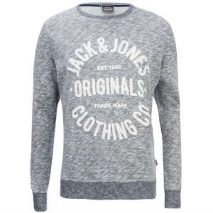 Jack & Jones Men's Originals Clemens Crew Neck Sweatshirt - Navy Melange