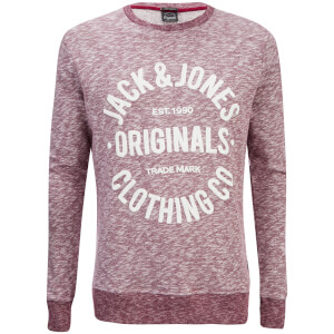 Jack & Jones Men's Originals Clemens Crew Neck Sweatshirt - Syrah Melange