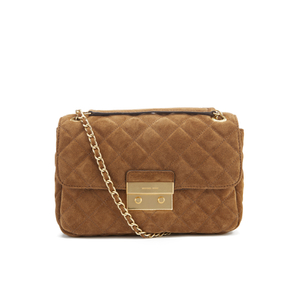 MICHAEL MICHAEL KORS Women's Sloane Large Chain Suede Shoulder Bag - Dark Caramel