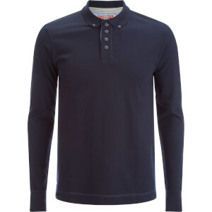 Tokyo Laundry Men's Lake Nevada Long Sleeve Polo Shirt - Dark Navy
