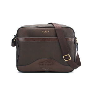 Ted Baker Men's Oscar Embossed Document Bag - Chocolate