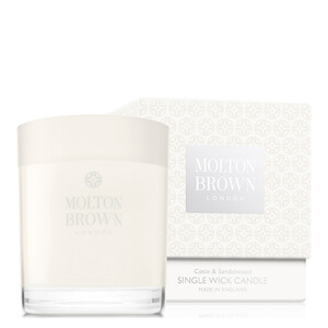 Bougie mèche simple Coco & Sandalwood Molton Brown 180 g