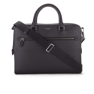 MICHAEL MICHAEL KORS Men's Harrison Medium Front Zip Briefcase - Black