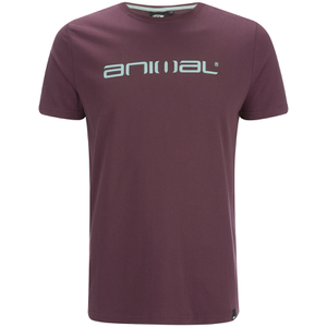 Animal Men's Classico Back Print T-Shirt - Mauve Purple