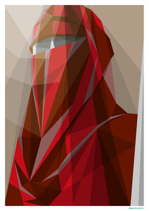 Star Wars Guard Imperial Guard Inspired Geometric Art Print - 16.5