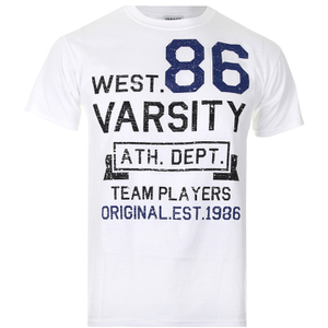 Varsity Team Players Men's West 86 T-Shirt - White