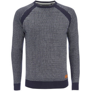 Threadbare Men's Karachi Birdseye Textured Jumper - Navy