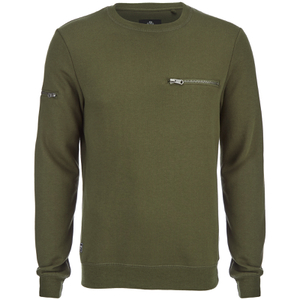 Threadbare Men's Chapel Crew Neck Sweatshirt - Khaki