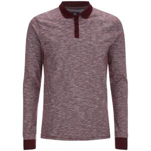 Threadbare Men's Cleethorpes Long Sleeve Polo Shirt - Burgundy