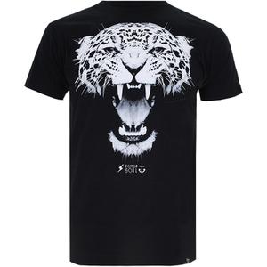 Cotton Soul Men's Leopard T-Shirt - Black
