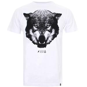 Cotton Soul Men's Wolf T-Shirt - White