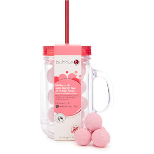 Bubble T Bath & Body - Bath Fizzers in Reusable Jar 11 x 20g (Hibiscus & Acai Berry Tea)