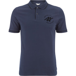 Jack & Jones Men's Core Reverse Tipped Polo Shirt - Navy Blazer