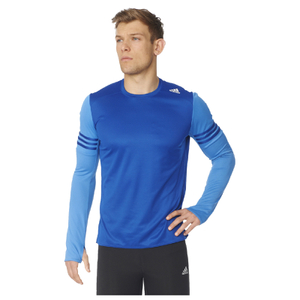 adidas Men's Response Long Sleeve Running T-Shirt - Blue
