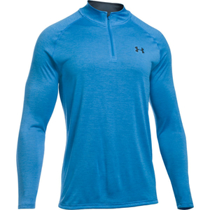 Under Armour Men's Tech 1/4 Zip Long Sleeve Top - Brilliant Blue/Stealth Grey