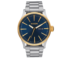 Nixon The Sentry SS Watch - Gold/Blue Sunray