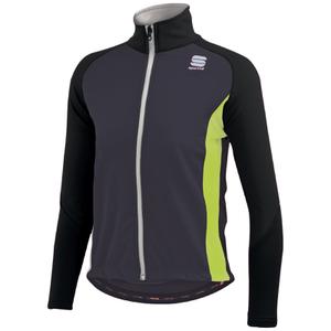 Sportful Kids' Softshell Jacket - Black/Yellow