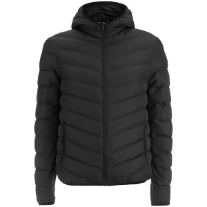 Brave Soul Men's Grant Padded Hooded Jacket - Black
