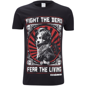 The Walking Dead Men's Fight the Dead T-Shirt - Black