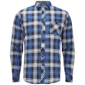 Tokyo Laundry Men's Carlsson Flannel Long Sleeve Shirt - True Blue