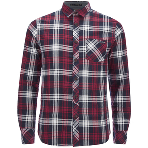 Tokyo Laundry Men's Carlsson Flannel Long Sleeve Shirt - Deep Red