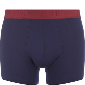 Puma Men's 2-Pack Striped Colour Block Boxers - Red/Navy