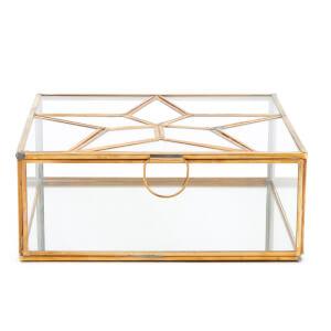 Nkuku Bequai Star Collections Box - Antique Brass