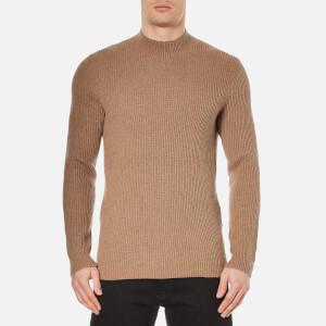 Selected Homme Men's Lex High Neck Knitted Sweatshirt - Otter