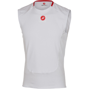 Castelli Prosecco Sleeveless Base Layer - White